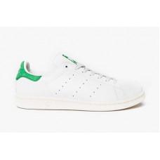 Adidas Smith белые с зеленой пяткой